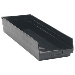 "Black Quantum® Economy Shelf Bin - 23-5/8"" L x 8-3/8"" W x 4"" Hgt."