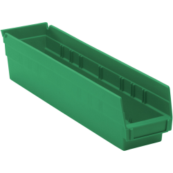 "Green Quantum® Economy Shelf Bin - 17-7/8"" L x 4-1/8"" W x 4"" Hgt."