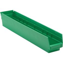 "Green Quantum® Economy Shelf Bin - 23-5/8"" L x 4-1/8"" W x 4"" Hgt."