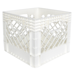 White Vented Dairy Crate