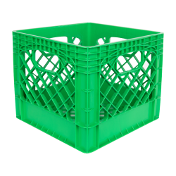 Green Vented Dairy Crate - 13.1