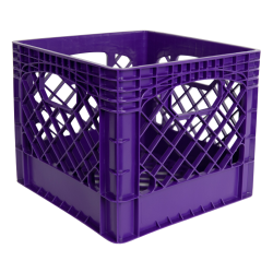 "Purple Vented Dairy Crate - 13.1"" L x 13.1"" W x 11"" Hgt."