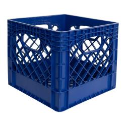 Blue Vented Dairy Crate - 13.1 L x 13.1 W x 11 Hgt.