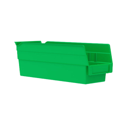 "11-5/8"" L x 4-1/8"" W x 4"" Hgt. Green Akro-Mils® Shelf Bin"