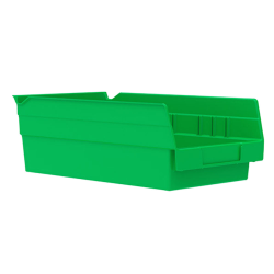 "11-5/8"" L x 6-5/8"" W x 4"" Hgt. Green Akro-Mils® Shelf Bin"