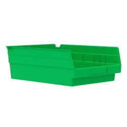 "11-5/8"" L x 8-3/8"" W x 4"" H Green Akro-Mils® Shelf Bin"