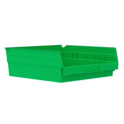 "11-5/8"" L x 11-1/8"" W x 4"" H Green Akro-Mils® Shelf Bin"