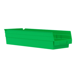 "17-7/8"" L x 6-5/8"" W x 4"" H Green Akro-Mils® Shelf Bin"