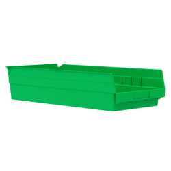"17-7/8"" L x 8-3/8"" W x 4"" H Green Akro-Mils® Shelf Bin"