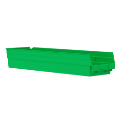 "23-5/8"" L x 6-5/8"" W x 4"" H Green Akro-Mils® Shelf Bin"