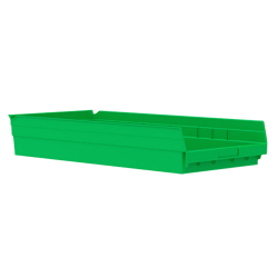 "23-5/8"" L x 11-1/8"" W x 4"" Hgt. Green Akro-Mils® Shelf Bin"