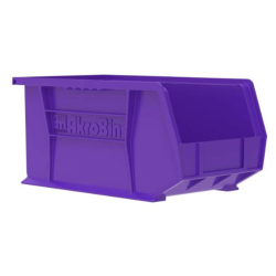 "14-3/4"" L x 8-1/4"" W x 7"" Hgt. OD Purple Storage Bin"