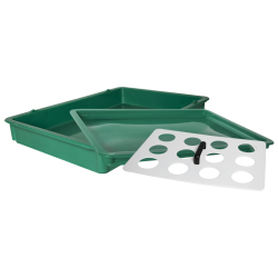 "25-3/4"" L x 18"" W x 3-11/16"" Hgt. White Tray with Handles"
