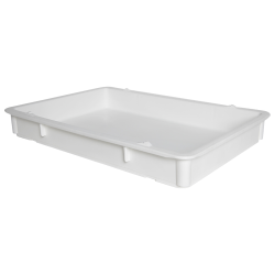 "25-3/4"" L x 18"" W x 3-11/16"" Hgt. White Tray with Handles (Lid & Template Sold Separately)"