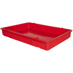 "25-3/4"" L x 18"" W x 3-11/16"" Hgt. Red Tray with Handles (Lid & Template Sold Separately)"