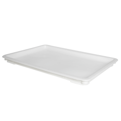 "24"" L x 16"" W x 1-1/2"" Hgt. White Dough Tray Lid"