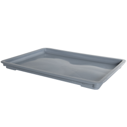 "24"" L x 16"" W x 1-1/2"" Hgt. Gray Dough Tray Lid"