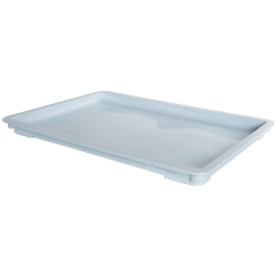 "24"" L x 16"" W x 1-1/2"" Hgt. Light Blue Dough Tray Lid"