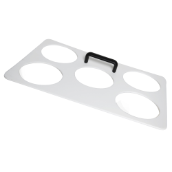 5 Holes White Dough Tray Template