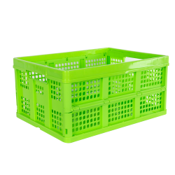 Lime Green Vented Folding Crate - 19