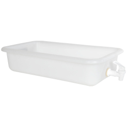 "18"" x 10"" x 4"" Tamco® Tray with No-Drip® Spigot"