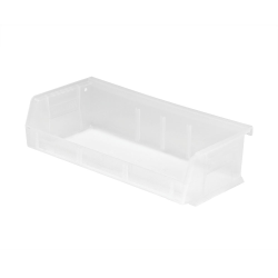 "5-3/8"" L x 11"" W x 3"" Hgt. Quantum® Clear-View Ultra Series Stack & Hang Bin"