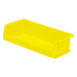 "5-3/8"" L x 11"" W x 3"" H Yellow Quantum® Ultra Series Stack & Hang Bin"