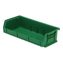 "5-3/8"" L x 11"" W x 3"" H Green Quantum® Ultra Series Stack & Hang Bin"