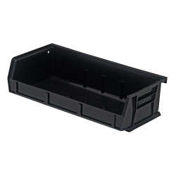 "Black Quantum® Ultra Series Stack & Hang Bin - 5-3/8"" L x 11"" W x 3"" Hgt."