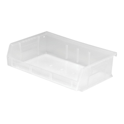 "7-3/8"" L x 11"" W x 3"" Hgt. Quantum® Clear-View Ultra Series Stack & Hang Bin"