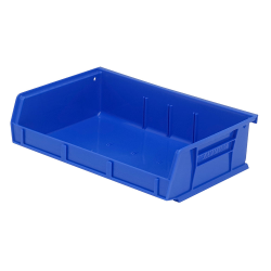 "7-3/8"" L x 11"" W x 3"" H Blue Quantum® Ultra Series Stack & Hang Bin"