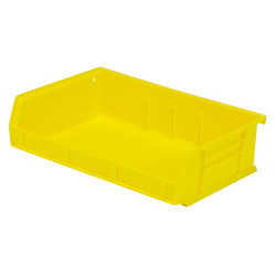 "Yellow Quantum® Ultra Series Stack & Hang Bin - 7-3/8"" L x 11"" W x 3"" Hgt."
