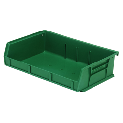 "7-3/8"" L x 11"" W x 3"" H Green Quantum® Ultra Series Stack & Hang Bin"