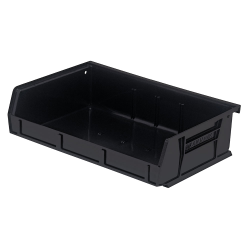 "Black Quantum® Ultra Series Stack & Hang Bin - 7-3/8"" L x 11"" W x 3"" Hgt."