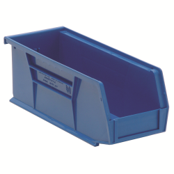 "10-7/8"" L x 4-1/8"" W x 4"" H Blue Quantum® Ultra Series Stack & Hang Bin"