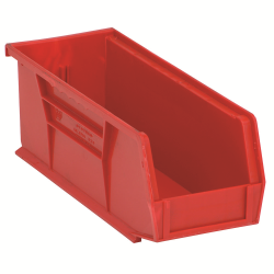 "10-7/8"" L x 4-1/8"" W x 4"" H Red Quantum® Ultra Series Stack & Hang Bin"