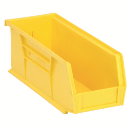 "Yellow Quantum® Ultra Series Stack & Hang Bin - 10-7/8"" L x 4-1/8"" W x 4"" Hgt."