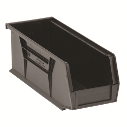 "Black Quantum® Ultra Series Stack & Hang Bin - 10-7/8"" L x 4-1/8"" W x 4"" Hgt."