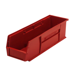 "Red Quantum® Ultra Series Stack & Hang Bin - 18"" L x 5-1/2"" W x 5"" Hgt."