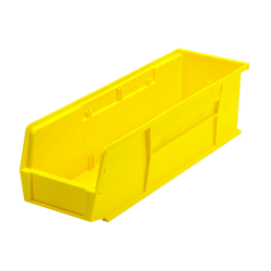 "18"" L x 5-1/2"" W x 5"" H Yellow Quantum® Ultra Series Stack & Hang Bin"