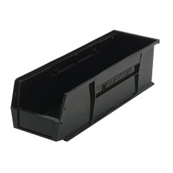 "Black Quantum® Ultra Series Stack & Hang Bin - 18"" L x 5-1/2"" W x 5"" Hgt."