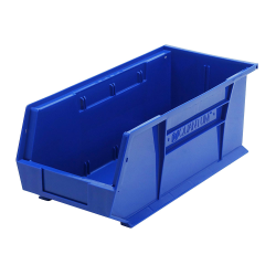 "18"" L x 8-1/4"" W x 7"" H Blue Quantum® Ultra Series Stack & Hang Bin"