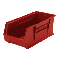 "18"" L x 8-1/4"" W x 7"" H Red Quantum® Ultra Series Stack & Hang Bin"