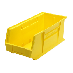 "18"" L x 8-1/4"" W x 7"" H Yellow Quantum® Ultra Series Stack & Hang Bin"