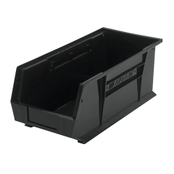 "18"" L x 8-1/4"" W x 7"" H Black Quantum® Ultra Series Stack & Hang Bin"