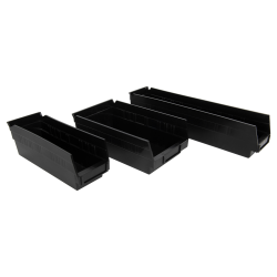 "Quantum® 4"" High Recycled Shelf Bins"