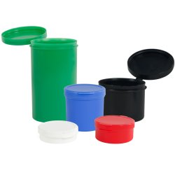 Poly-Cons with Hinged Lids 1/4 Oz. - 1 Oz.