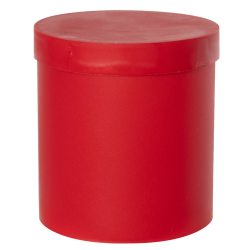 Red Roundabout Container with Lid