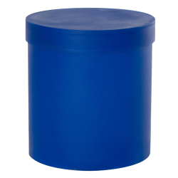 Blue Roundabout Container with Lid