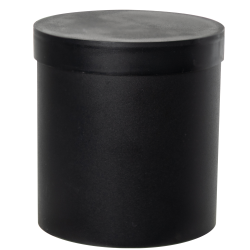 Black Roundabout Container with Lid